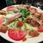 Caesar's salad at Del Casa