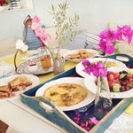 The amazing breakfast cooked by Antonia