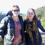 On trail overlooking Lake Tarawera