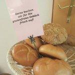 Fresh rolls at breakfast - gluten-free on request