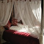 Our four poster bed in Room 5