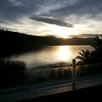 sunrise from my balcony villa