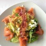 Singapore Marriott Pool Grill Caesar Salad + Salmon (made table side)