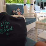 ... in a cabana by the pool at The Beachside Village Resort in Lauderdale-By-The-Sea, FL! 