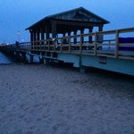 The pier after sunset ... just steps away from our suite at The Beachside Village Resort, Lauder