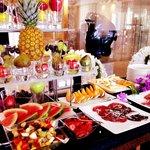 Buffet fruits petit déjeuner