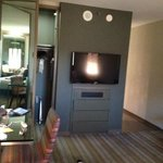 TV + tiny closet