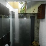open shower in room