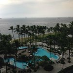 View from room - pool and bay side