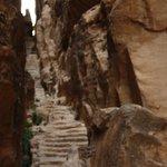 escalera al mirador en Pequeña Petra