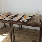 """Continental Breakfast"" aka plain bread, american cheese and Luke warm coffee"