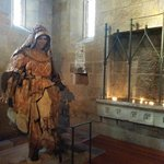 Wooden sculpture of St Mary Mackillop