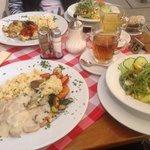 Очень вкусное блюдо- индейка в грибном соусе
