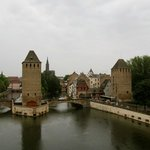 Ponts couverts from atop the Barrage Vauban