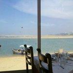 Oualidia la lagune vue du Restaurant l'Araignée Gourmande