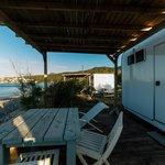 karavan tipi odanın verandası
