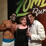 2 zombies and myself after the show! Grrrr!