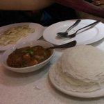 idiyapam(spring hops) and egg roast