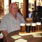 Bob enjoying his paddle of beers