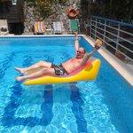 Our amazing lilo & pool area