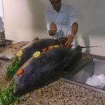 thon frais (les seuls repas potable avec les grillades au barbecue)