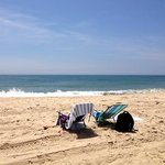 Beautiful beach and ocean just across the street. Beach towel and sun chairs free to use.
