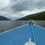 view from boat on Loch Lochy