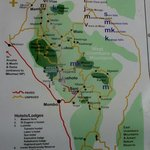 map of trekking arae from 1-7 days