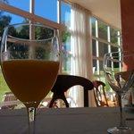 Freshly squeezed orange juice at breakfast