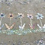 Beach marble stones