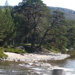 Little beach on the River Dee