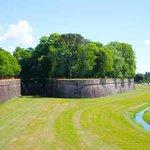 the impressive Lucca walls