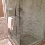 Large glass shower stall