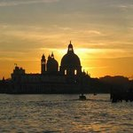 Sunset, entrance of Grand Canal and Santa Maria della Salute
