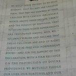 Inside Thomas Jefferson Memorial.