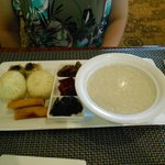 Congee Dimsum Breakfast a la cart at Bloo restaurant