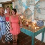 My gorgeous guests and the beautiful decor