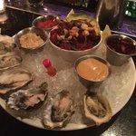 raw oysters and Ahai Tuna