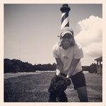 Guinness' first trip to the light house at Cape Hatteras - June 2014.