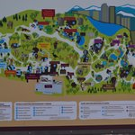 Map at entrance of Denver Zoo