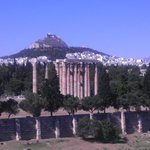 Zeus' Temple from Royal Olympic Hotel Balcony