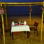 Our private dinner on the beach