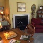 nice living room area with espresso machine