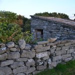 You pass several stone structures like this farm shed ruins along the short road to Doolin downt