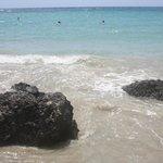 Turquoise sea, white sand