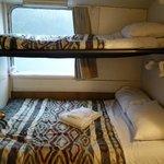 Comfy shared bunk beds