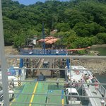 Getting off the ferry to head over to Santa Teresa