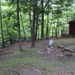 The firepit area between Cabin 23 and 24.