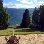 Vista del Lago Nahuel Huapi desde la terraza del hotel