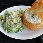 Bread Bowl and Salad
